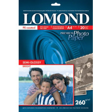 Photo paper Lomond PHOTO semi-gloss 260g/m, A4, 20sh. 1103301